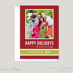 Holiday Card Template by SarahLDesign on Etsy, $5.00 @Britney Hargrove