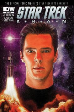 bcumberbatchro:   Khan #3Written by Mike Johnson, with art by Claudia Balboni and David Messina, cover by Paul Shipper, and a photo-cover  The exclusive never-before-seen origin of STAR TREK's greatest villain continues here, in the official tie-in to the blockbuster hit STAR TREK INTO DARKNESS! The legendary Eugenics Wars lay waste to the planet as Khan fights to preserve his empire! An all-new epic overseen by STAR TREK writer/producer Roberto Orci!