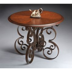 Metalworks Four-way Matched Cherry Veneer Foyer Table