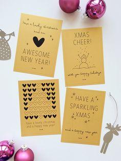 Elske - Klein (woon)geluk in Friesland Xmas Cards, Diy Cards, Holiday Cards, Noel Christmas, Christmas Crafts, Christmas Decorations, Diy Postcard, Karten Diy, Christmas Inspiration