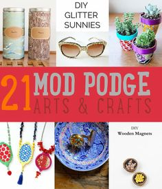Mod Podge Ideas   21 Arts & Craft Projects and DIY Ideas for the Kitchen, Home Decor Do It Yourself Projects http://diyready.com/mod-podge-craft-ideas/