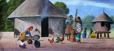 african homestead paintings - Google Search