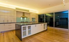 Topic Builders - Geelong Builders - 2 pac kitchen with stone benchtops with storage space in island bench