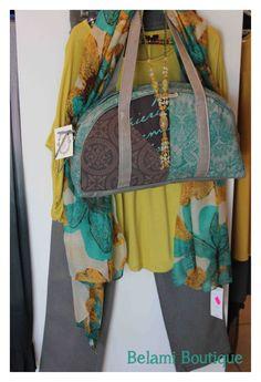 Top, grey denim, handbag, necklace and scarf :)