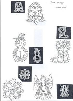 electric winder for lace making bobbins Crochet Christmas Decorations, Christmas Crochet Patterns, Christmas Ornament, Bobbin Lace Patterns, Lacemaking, Theme Noel, Crewel Embroidery, Lace Knitting, Machine Embroidery Designs