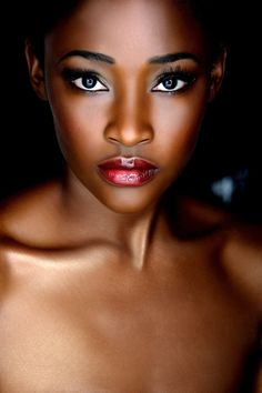 Beautiful wedding makeup for dark skin tone