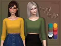 Trillyke - Cropped Sweater for The Sims 4