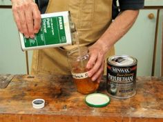 'You Can Add All the Thinner You Want.' (via Popular Woodworking Magazine) Woodworking Supplies, Woodworking Techniques, Woodworking Projects, Wood Projects, Woodworking Magazines, Woodworking Square, Popular Woodworking, Woodworking Workbench, Woodworking In An Apartment