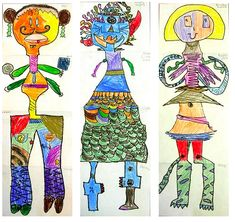 Art Education Blog for K-12 Art Teachers | SchoolArtsRoom Drawing Legs, Art History Timeline, Group Art Projects, Exquisite Corpse, Art Assignments, Circle Game, Student Drawing, Arts Ed, Art Teachers