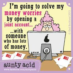 Anybody want to join me? Don't forget to check out your #FREE brand spanking NEW Aunty Acid GoComics today, http://www.gocomics.com/aunty-acid