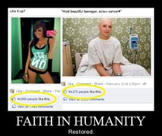 I'm starting to believe in humans again! And on a side note the girl on the right is so much MORE BEAUTIFUL cause she has a genuine smile and doesn't have to show her boobs to get likes faith in humanity resorted once again ! I Smile, Make Me Smile, Memes, Sweet Stories, Beautiful Stories, Gives Me Hope, Vanellope, Faith In Humanity Restored, Smosh