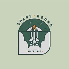 Got into a badge making groove today. #nasa #space #badge #illustration #design #rocket #spaceshuttle