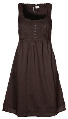 Brown dress with a cardigan of course