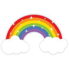Sparkling rainbow SVG file and clipart Rainbow Birthday, Unicorn Birthday Parties, Unicorn Party, Happy Birthday, Rainbow Crafts, Rainbow Art, Rainbow Cartoon, Rainbow Clipart, Silhouette Design