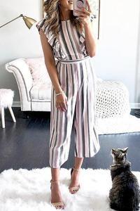 c58c8da2d7ed 57 Best striped jumpsuit images | Rompers women, Catsuit, Cute dresses