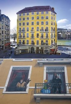 In Lyon the walls tell stories, mostly very tall tales. While painting on walls is as old as time, the city has taken the art of modern urban wall painting to new heights with nearly 60 outdoor murals.