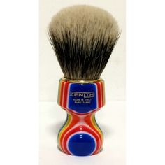 ZENITH Manchurian shaving brush handle turned in multicolor resin 506MC Manchu - Yourshaving.com