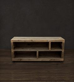 Reclaimed Wood Long Bookshelf | Home Furniture | J W Atlas Wood Company | Scoutmob Shoppe | Product Detail