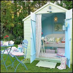 I just want a big green backyard with a comfy garden shed that I can sleep, read, and relax in. And tea parties too ;) (without tea... bleh!)