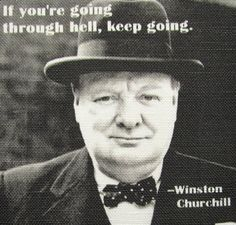 WINSTON CHURCHILL QUOTE - Printed Patch -via Etsy.