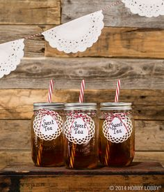 Sweet tea gets even sweeter with these mason jar mugs!