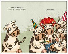 Vacas de fiesta (por @albertomontt)