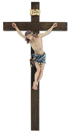 Kruzifix gebeizt mit Ahorncorpus 33,5 cm