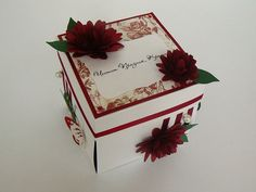 Exploding Box Birthday Greeting Card in Ice White by DennysCraft, $24.95