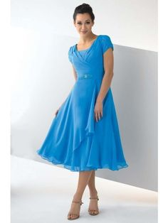 A-line/Princess Hög Hals Chiffong Mother Of the Bride Dress