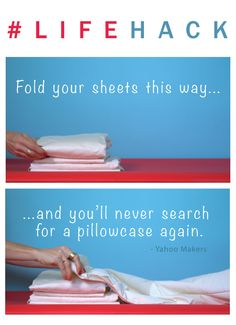 Not only will this little hack save you time, it will make your linen closet look much more organized.