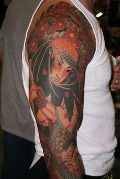 Japanese warrior tattoo