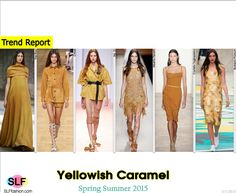 Trendy Colors for SS 2015: Yellowish Caramel (autumn shades).  The Row, Chloé, No. 21, Alberta Ferretti, Costello Tagliapietra, Burberry Prorsum Spring Summer 2015.