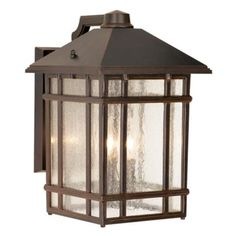 "J du J Sierra Craftsman 15"" High Outdoor Wall Light- lamp plus"
