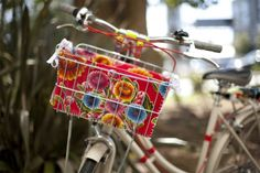 Pedal pretty with a DIY Bike Basket Liner.