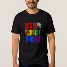 Wear this tee-shirt (in the colors of an LGBT ally) to show the world that acceptance begins with an open, loving mind. Sure to start a conversation. It makes a great gift for anyone one who understands that we're all at different points on the sexuality continuum and that wherever we are, we deserve understanding, love, and support, not hate and violence. Find it here:  http://www.zazzle.com/straight_against_hate_lgbt_ally_t_shirt-235936432290483466
