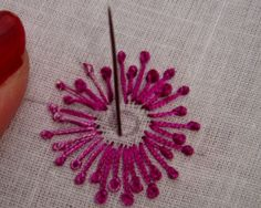 French knot stitch is also used widely in Indian embroidery. French knot looks very nice with sequin work. French knot is best suited for...