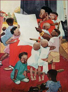 Esquire Magazine 1936 Illustration by E. Simms Campbell - Cartoonist  - Black Americana