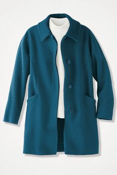 Cold water creek coat, teal blue