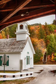 View of church from Stark covered bridge NH Abandoned Churches, Old Churches, Beautiful Places In Usa, Hampton Beach, Take Me To Church, Country Barns, Place Of Worship, Covered Bridges, New Hampshire
