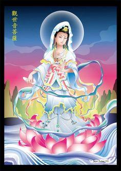 Colored Kwan Yin