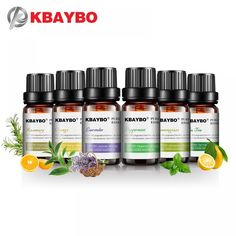 KBAYBO Pure essential oils for aromatherapy diffusers Lavender tea - tree lemongrass tea - tree rosemary Orange oil Essential Oil Starter Kit, Essential Oil Carrier Oils, Essential Oil Bottles, Orange Essential Oil, Natural Essential Oils, Essential Oil Diffuser, Natural Oils, Humidifier Essential Oils, Natural Healing