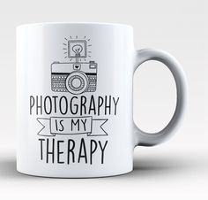 Photography is my therapy. The perfect coffee mug for any proud photographer. Available here - https://diversethreads.com/products/photography-is-my-therapy