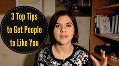 3 Top Confidence Tips – How to Get People to Like You  via Jelena Ostrovska