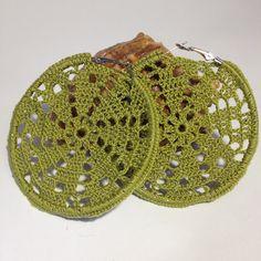 Snowflake earrings Crochet earrings crochet by CreativeAccessorise