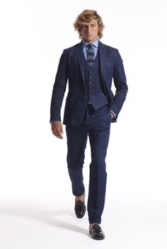 I guess even Ralph Lauren designs a loser now and then.  Way too much denim, and this is from a guy who exists in denim.  It reminds me of suits from the 1970s.