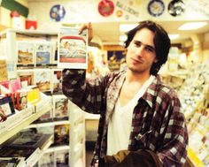 Jeff Buckley photographed by Merri Cyr at Tower Records, NYC, December 16, 1994.