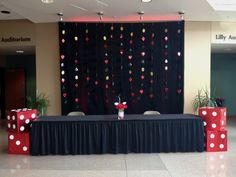 Registration table for a casino themed event at The Marten House Hotel & Lilly Conference Center in Indianapolis, IN