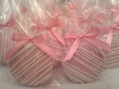 Pretty in Pink Chocolate Covered  Oreos Cookies It's A Girl Baby Shower Wedding Party Favors Christening on Etsy, $17.00