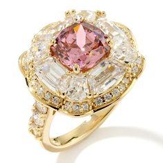 Pink Tourmaline Framed Ring