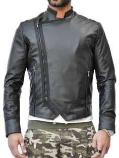 Giacca in vera pelle da uomo mod. Donato - Pellein.com - Leather Jacket for Man